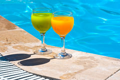 Two glasses with juice Stock Photo