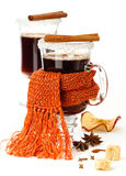 Two glasses of mulled wine Royalty Free Stock Photography