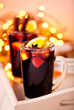 Two glasses of mulled wine Royalty Free Stock Photo