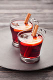 Two glasses of mulled wine Royalty Free Stock Photos