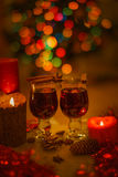 Two glasses of mulled wine Royalty Free Stock Images
