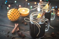 Two glasses of mulled wine Stock Photo