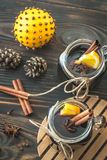 Two glasses of mulled wine Stock Photography
