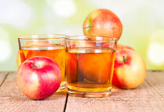 Free Two Glasses Of Apple Juice Stock Photography - 30967532