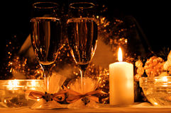 Free Two Glasses Of Champagne Royalty Free Stock Image - 7400716