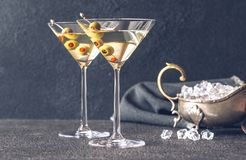 Free Two Glasses Of Martini Cocktail Royalty Free Stock Photography - 159459407