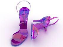 Two Glasses Of Pink Shoes №2 Stock Photos