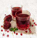 Two Glasses Of Pomegranate Juice Royalty Free Stock Photography