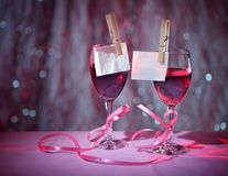 Two Glasses Of Red Wine Royalty Free Stock Image