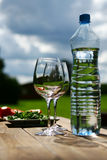 Two Glasses Of Water On Table Stock Images