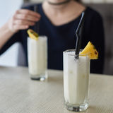 Two glasses of pina colada Royalty Free Stock Photography