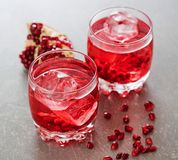 Two glasses of red cocktail royalty free stock photography