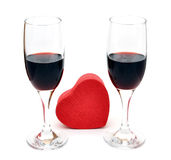 Two glasses of red wine Stock Photography