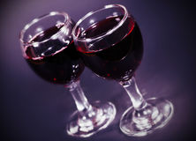 Two glasses of red wine Stock Photo