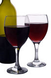 Two glasses of Red Wine Royalty Free Stock Photography