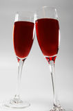 Two glasses with red wine Royalty Free Stock Images