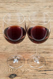 Two glasses with red wine Royalty Free Stock Photography