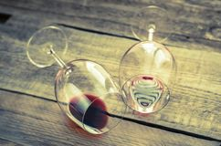 Two glasses with red wine Stock Image