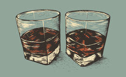 Two glasses with rum Stock Photography