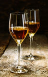 Two glasses of sherry royalty free stock photography