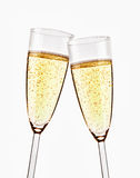Two glasses of sparkling champagne Royalty Free Stock Photo