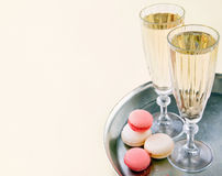 Two glasses of sparkling wine Royalty Free Stock Photos
