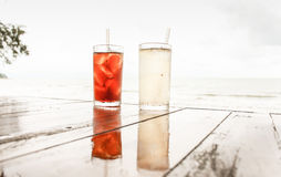 Two glasses on the table. Two glasses of water on table Stock Images