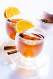 Two glasses of tea Royalty Free Stock Photography