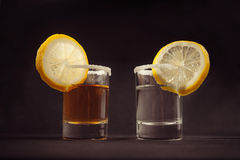 Two glasses of tequila cocktail Royalty Free Stock Photography