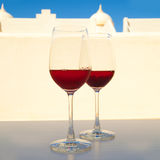 Two glasses of very dark chilled rose, Royalty Free Stock Image