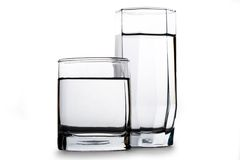Two glasses of water Stock Photography