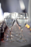 Two glasses with water Stock Image