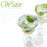 Two glasses of water with lime Royalty Free Stock Image