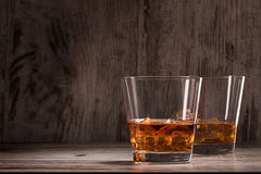 Two glasses of whiskey Stock Photography