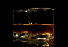 Two glasses of whiskey Stock Images
