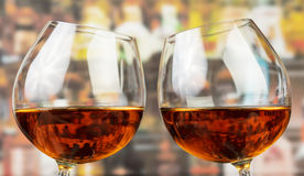 Two glasses with whisky Stock Images