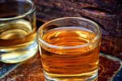 Alcohol,taste and drink concept. Royalty Free Stock Image
