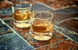 Alcohol,taste and drink concept. Stock Image