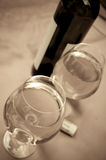 Two glasses with white wine Royalty Free Stock Photography