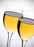 Two glasses with white wine Stock Photography