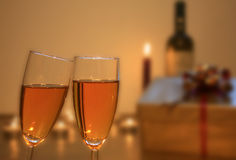 Two glasses  of wine Royalty Free Stock Image