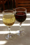 Two glasses of wine Stock Photography