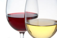 Two glasses of wine Stock Image