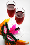 Two glasses with wine Stock Photos
