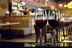 Two glasses of wine Royalty Free Stock Photography