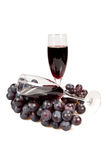 Two glasses of wine and vine. Royalty Free Stock Image