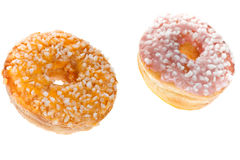 Two Glazed Donuts Royalty Free Stock Photo