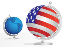 Two globe Stock Photography