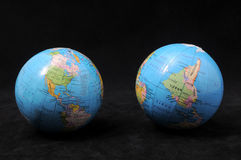 Two Globes Royalty Free Stock Images