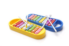 Two glockenspiels toy. On white background Stock Photography